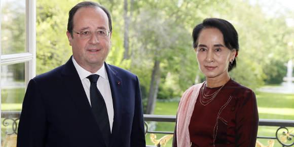 À Paris, Aung San Suu Kyi met en doute l'engagement démocratique du gouvernement birman