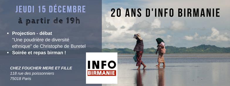 Info Birmanie fête ses 20 ans !