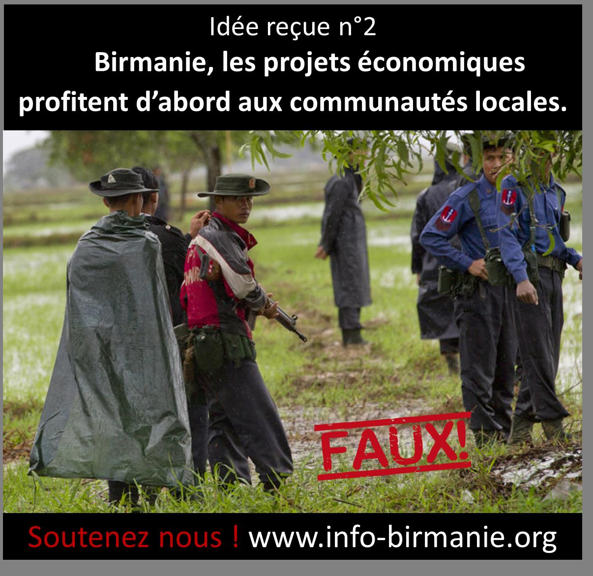 Idée reçue n°2 : En Birmanie, les projets économiques profitent d'abord aux communautés locales