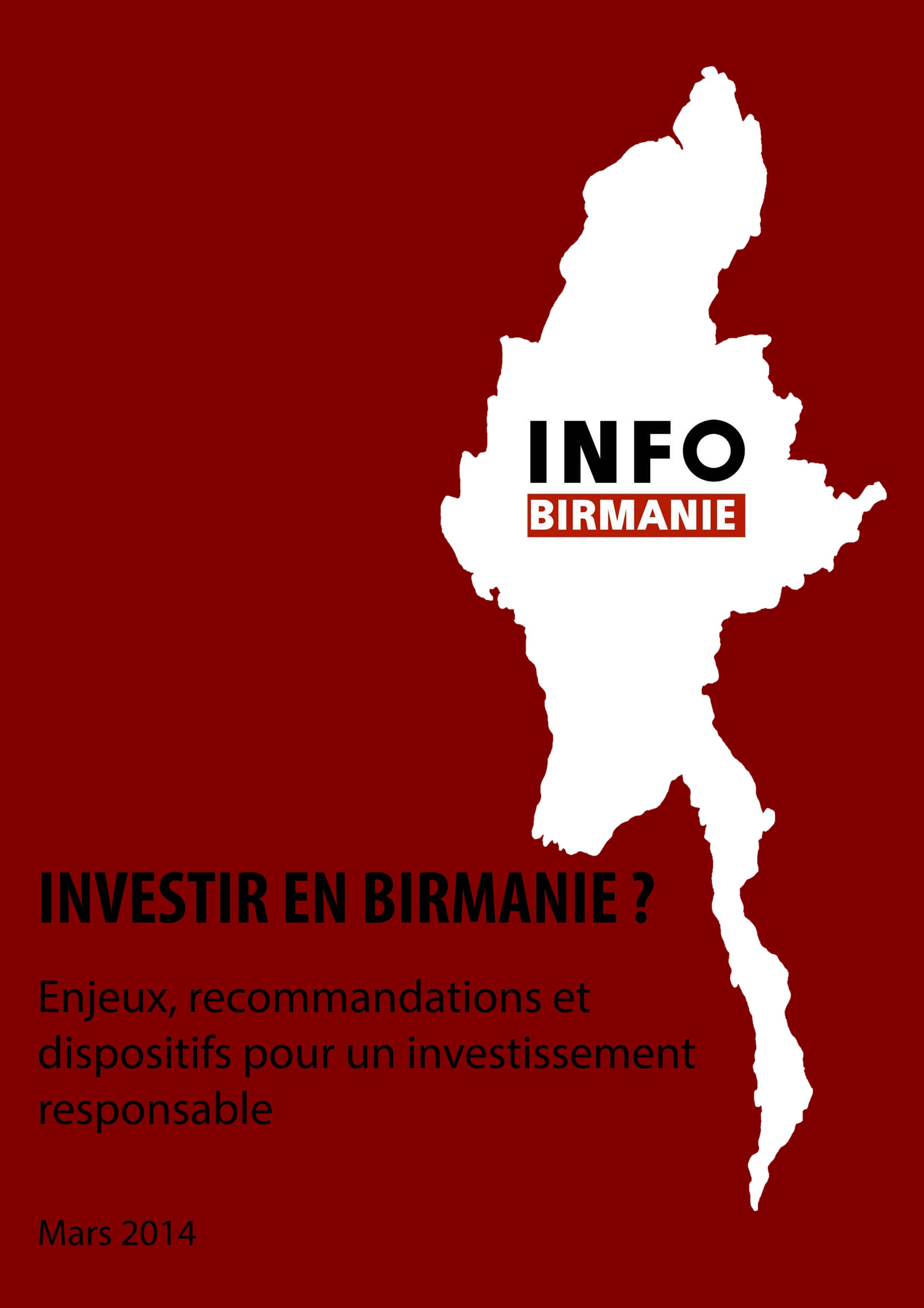 Guide de l'investissement responsable : investir en Birmanie ?  enjeux et recommandations