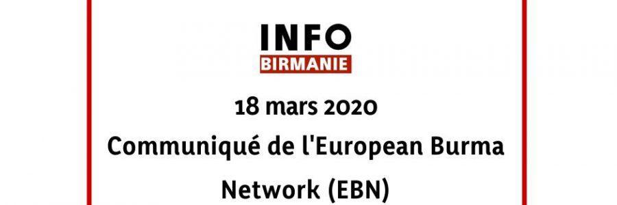 Position commune de l'UE sur la Birmanie  : communiqué de l'European Burma Network (EBN)