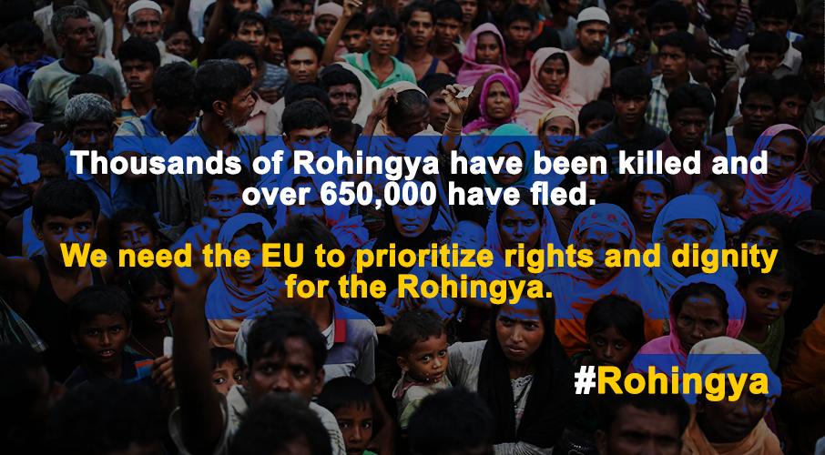Des organisations de la société civile exhortent l'Union Européenne à prendre des mesures fermes en réponse à la crise Rohingya