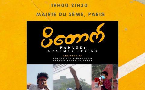 Projection Débat «Padauk : le Printemps Birman» le mardi 5 octobre à Paris