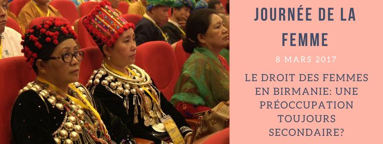 Droits des femmes en Birmanie: une préoccupation secondaire?