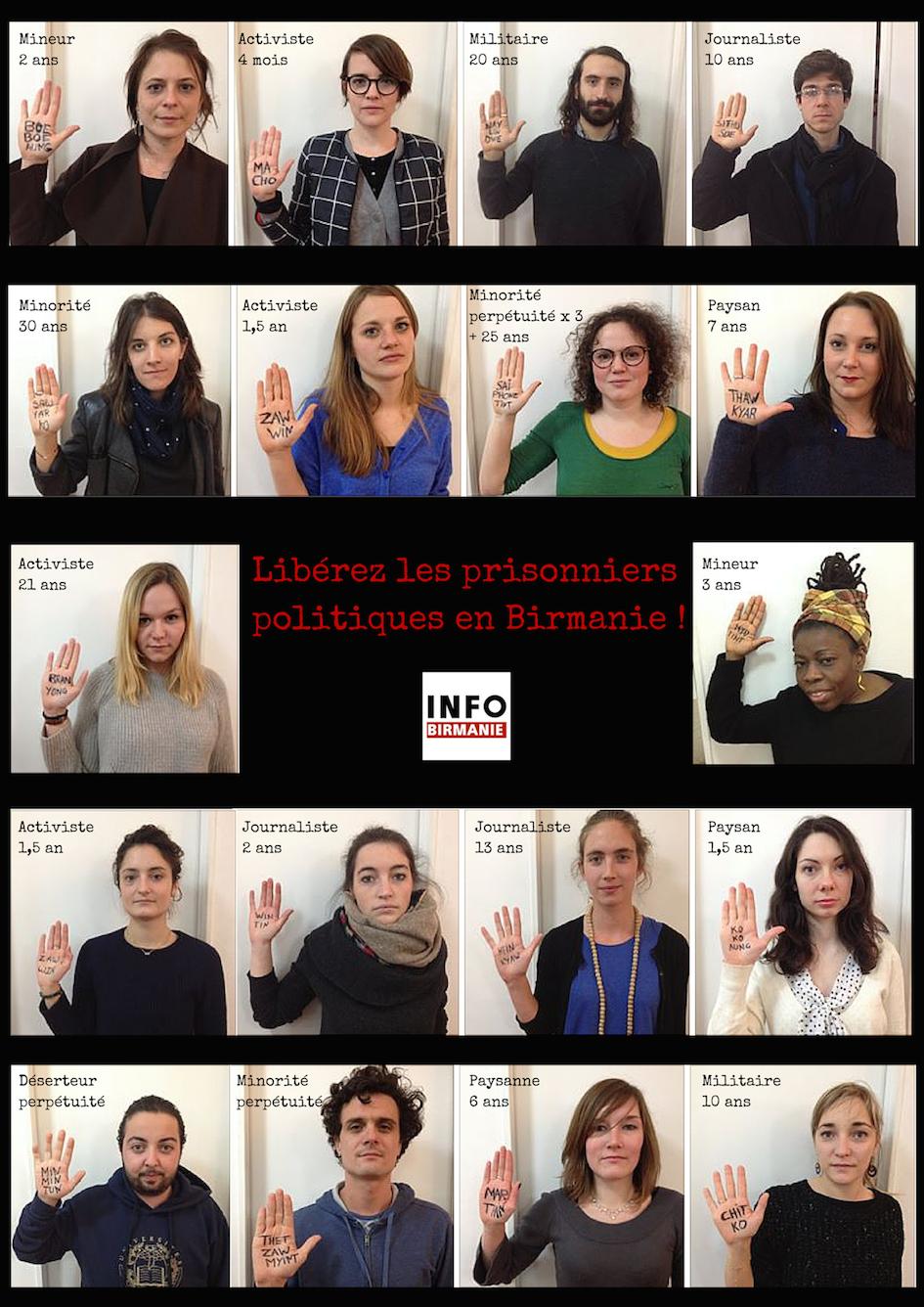 Participez à la campagne pour la libération des prisonniers politiques birmans