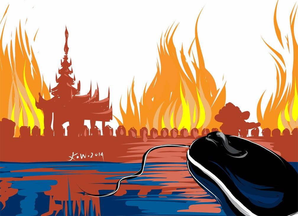Facebook, l'outil redoutable des extrémistes birmans