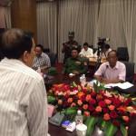 Dr. Tin Myo Win s'adresse aux leaders de trois groupes armés ethniques.
