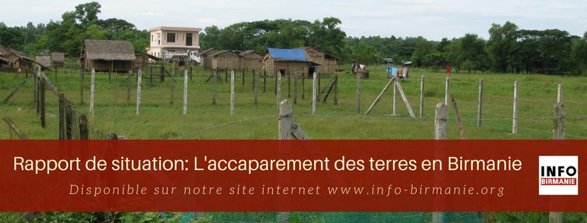 Rapport de situation: l'accaparement des terres en Birmanie