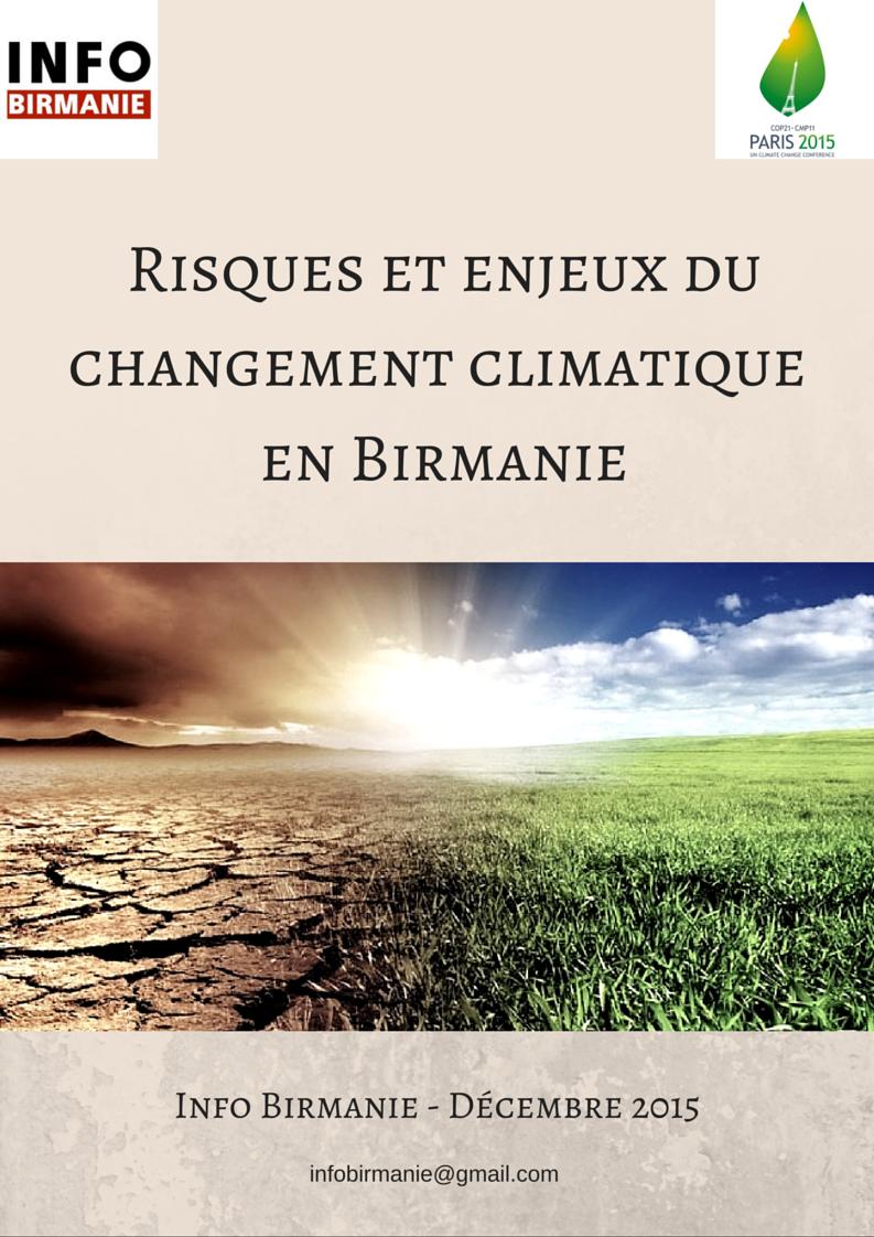 Rapport d'Info Birmanie «Risques et enjeux du changement climatique en Birmanie»