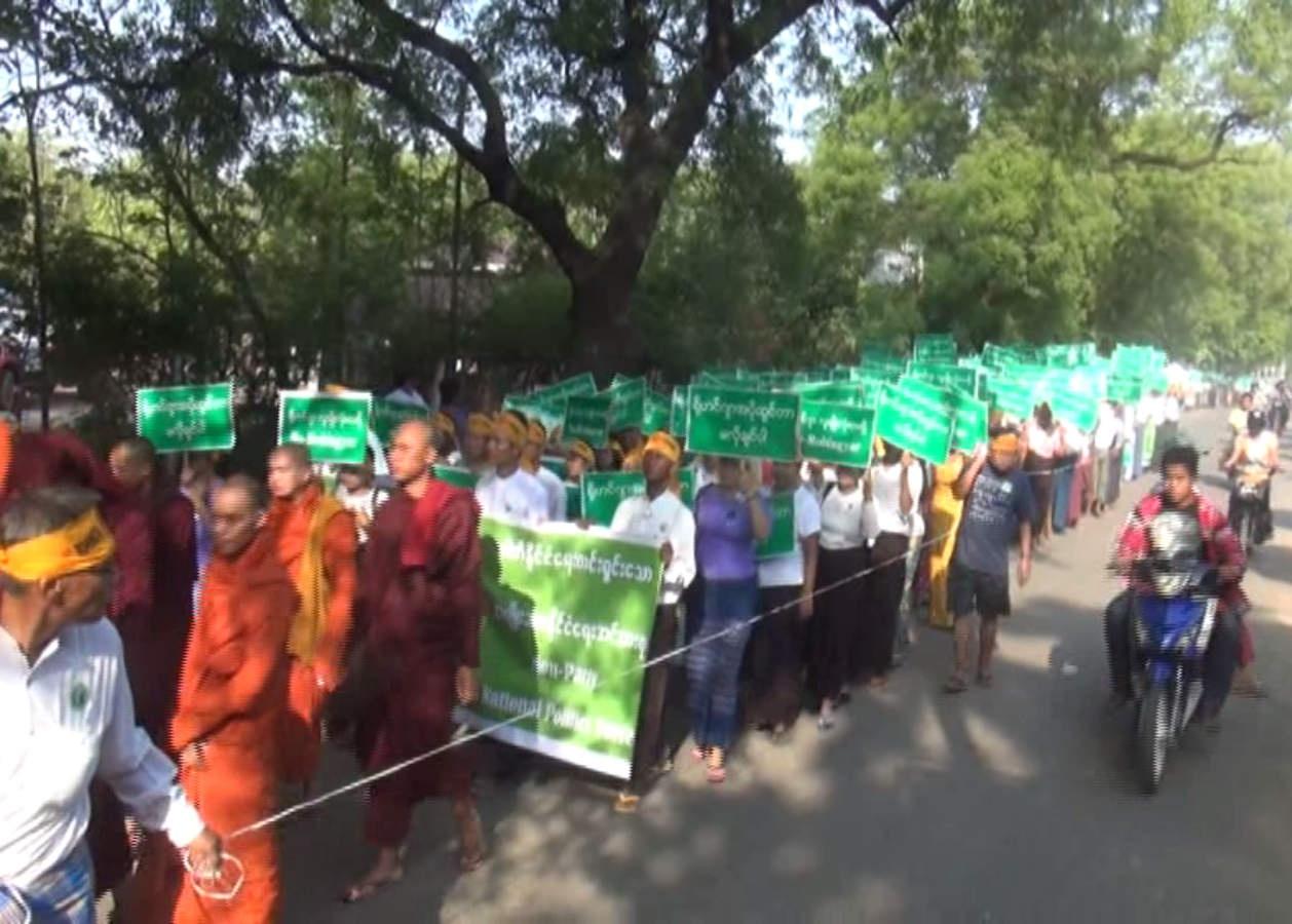 Un moine de Ma Ba Tha dénonce une manifestation anti-rohingya en Birmanie