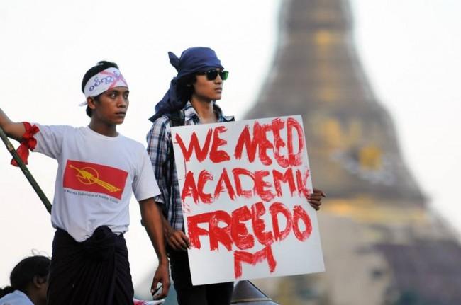 La France doit appeler le gouvernement birman à ne pas recourir à la violence contre les leaders des manifestations étudiantes